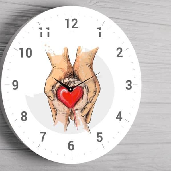 Ceas personalizat inima