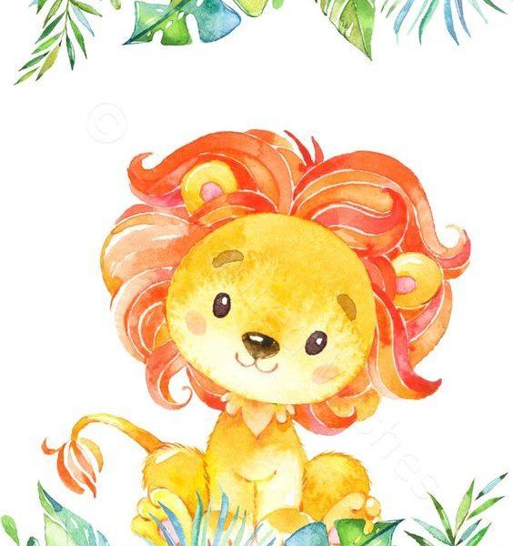 Tablou decorativ leu
