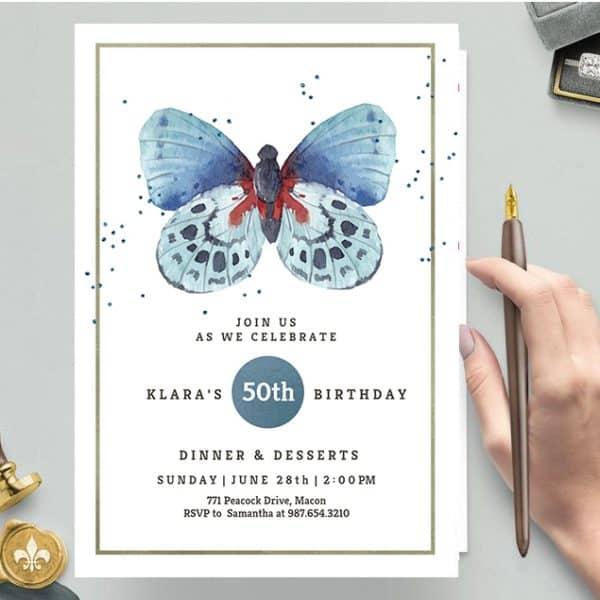 Invitatie de Botez Fluture
