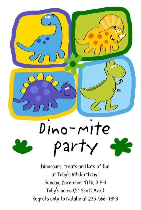 Invitatie de Botez Dinozauri