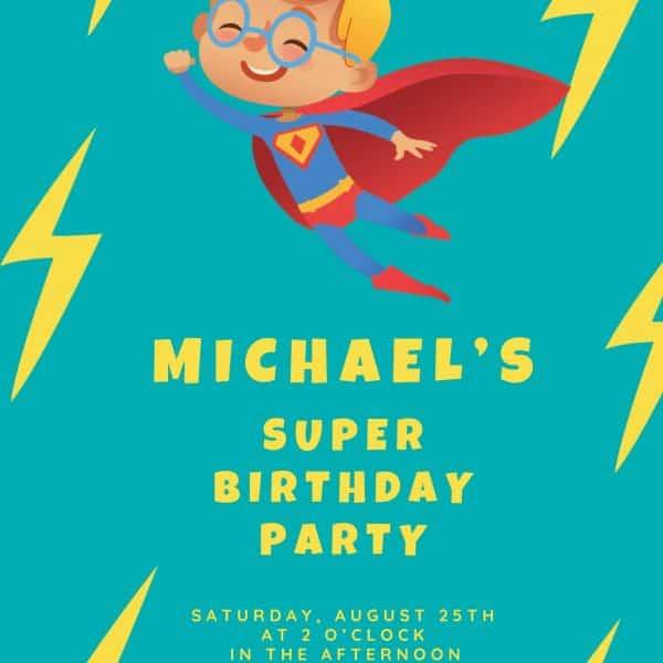 Invitatii Superman de botez
