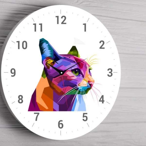 Ceas personalizat pisica
