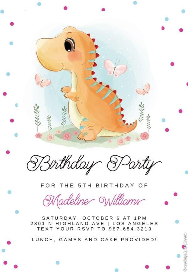 Invitatie de Botez Dinozaur