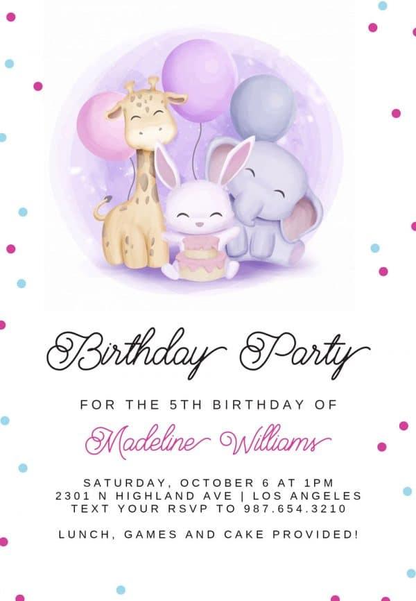 Invitatie de Botez Prieteni
