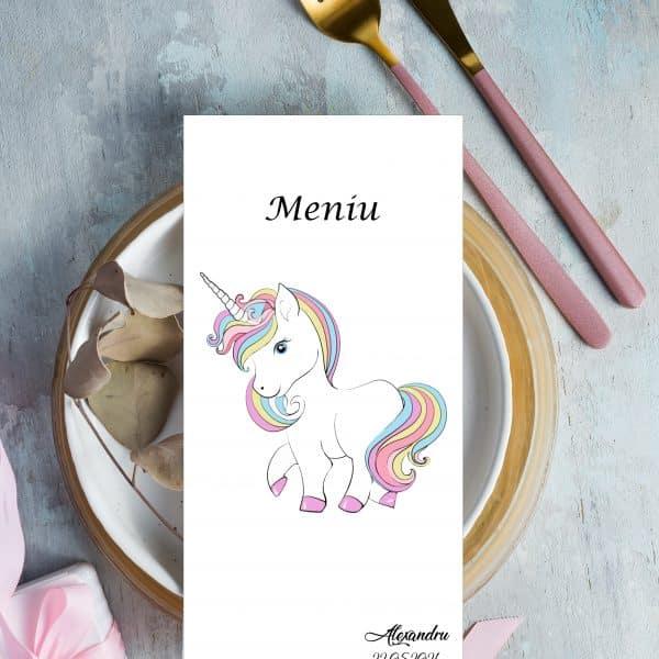 Meniu Botez Unicorn Fete