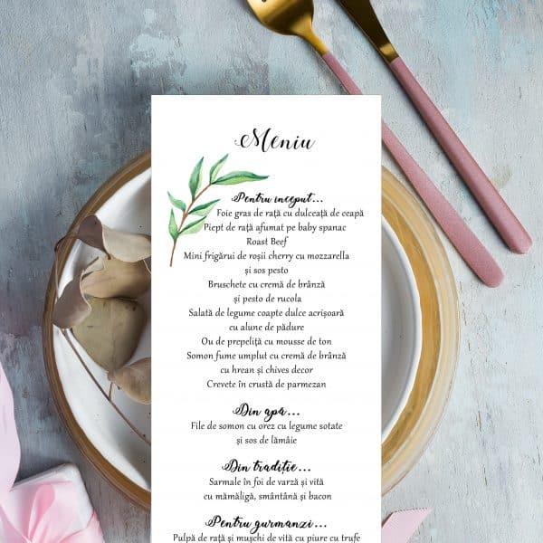 Meniu nunta modern