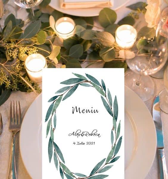 Meniu nunta verde