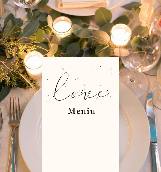 Meniu nunta love