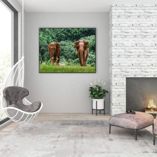 Tablou decorativ elefanti