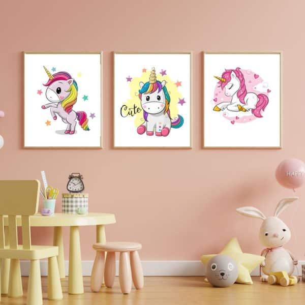 Set Tablouri copii Unicorn