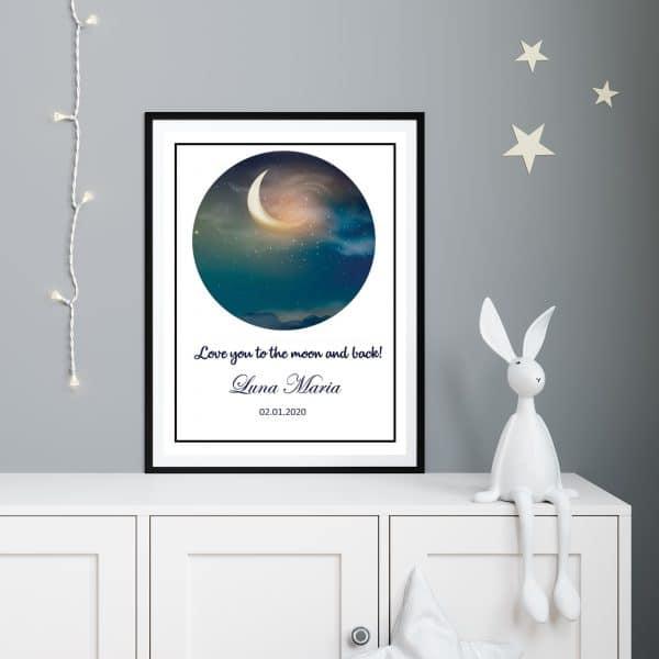 Tablou copii Moon