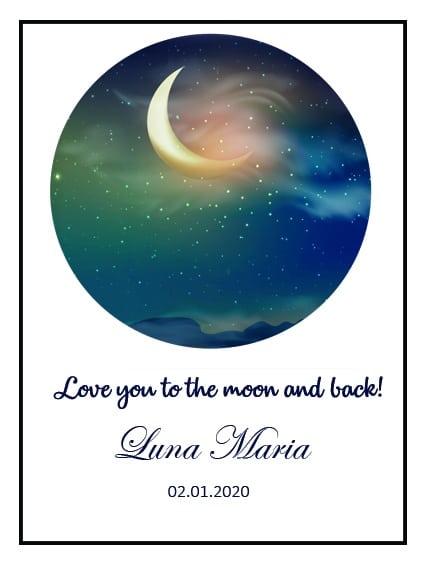 Tablou decorativ luna
