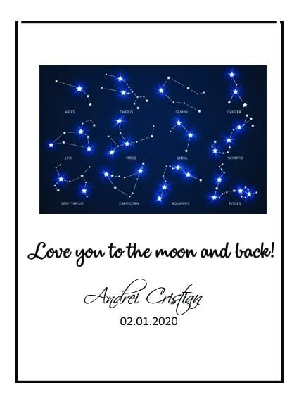 Tablou decorativ astrograma