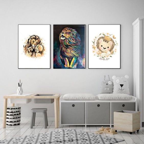 Set Tablouri copii Leu