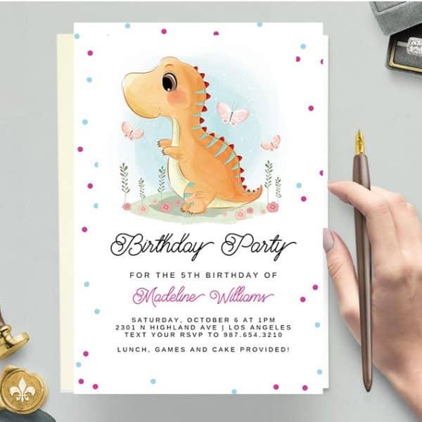 Invitatie de botez Dino