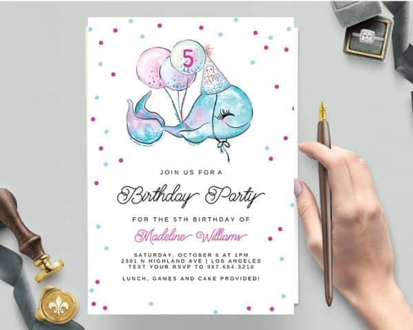 Invitatie de Botez Balena