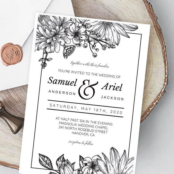 Invitatie de nunta Natura