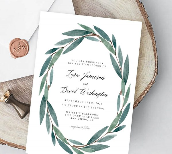 Invitatie de nunta Moderna
