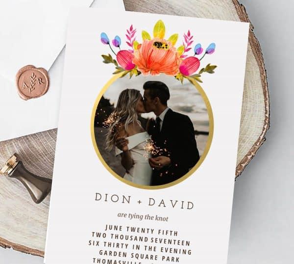 Invitatie de nunta Poza