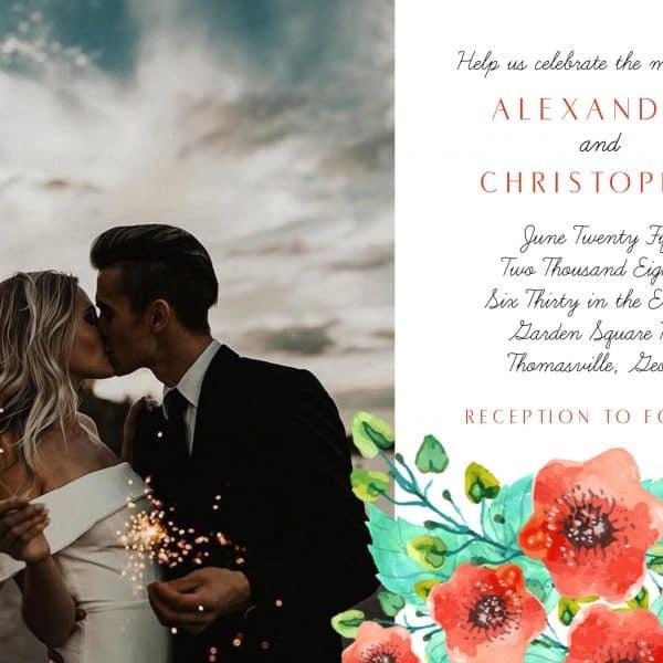 Invitatie de nunta Mac