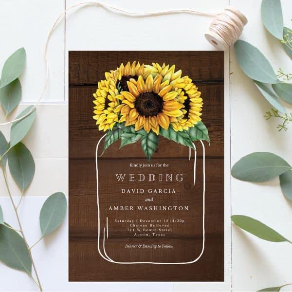 Invitatie de Nunta Floarea Soarelui