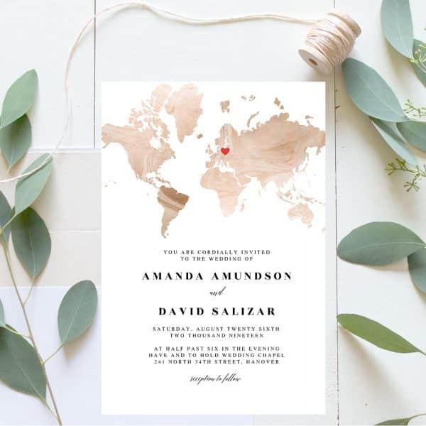 Invitatie de nunta Harta