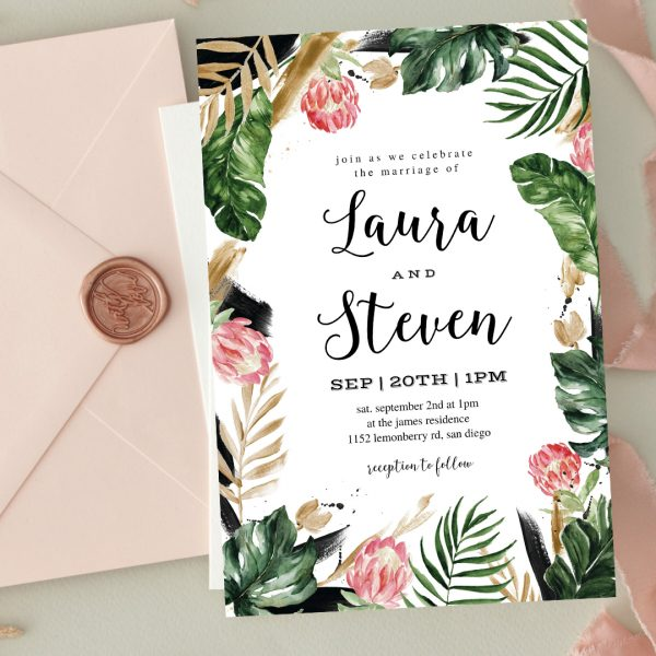 Invitatie de nunta Nature