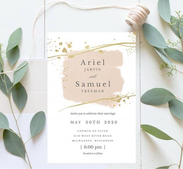 Invitatie de nunta Ariel