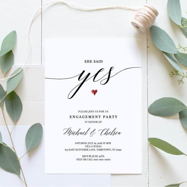Invitatie de nunta Yes