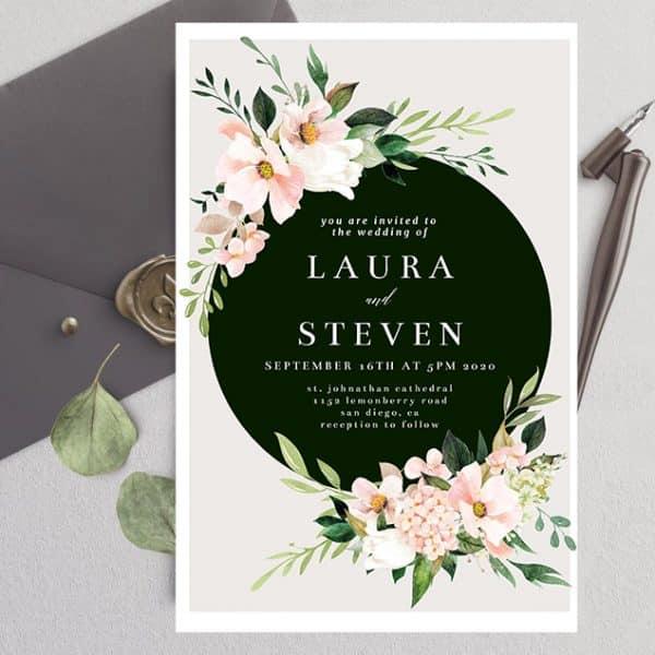 Invitatie de Nunta Flowers