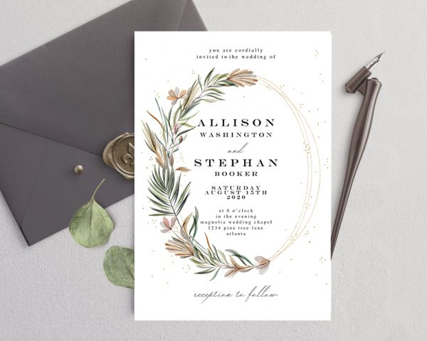 Invitatie de nunta Simpla