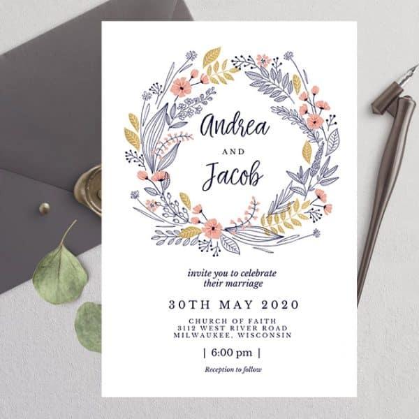 Invitatie de nunta Simbolica