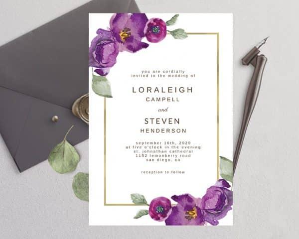 Invitatie de nunta Mov