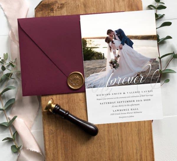 Invitatie de nunta Forever