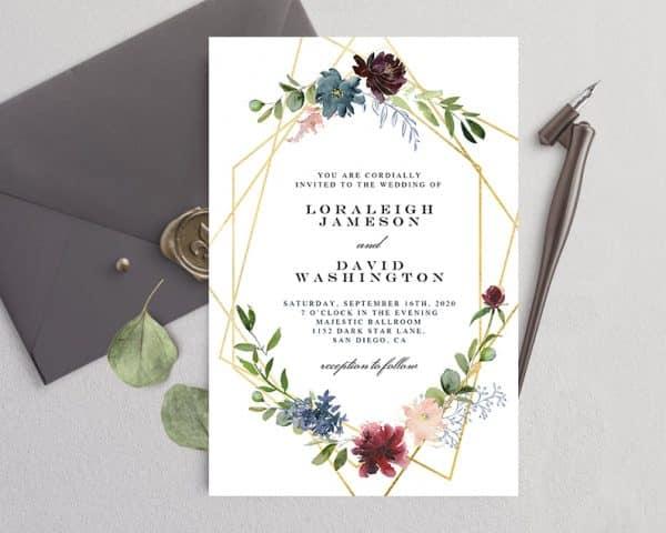 Invitatie de nunta Flori