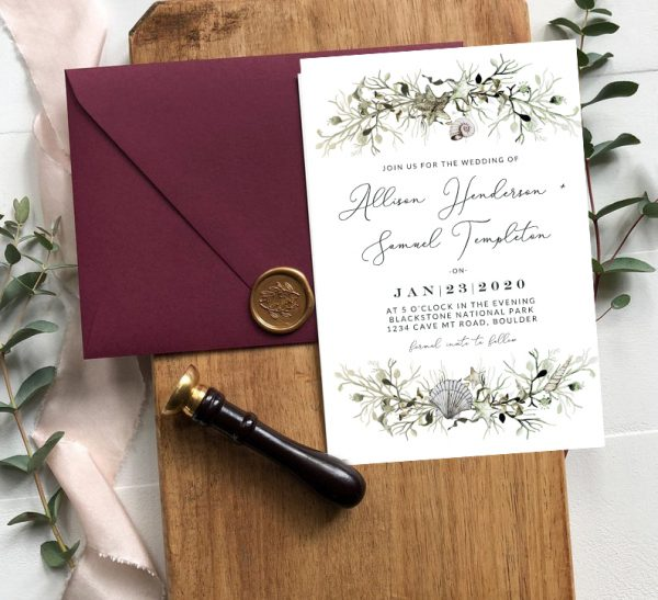 Invitatie de nunta Marina