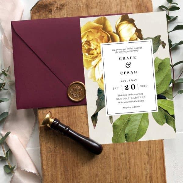 Invitatie de nunta Floare