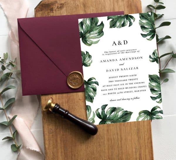 Invitatie de nunta Frunze