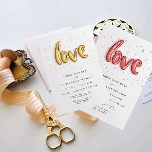 Invitatie de nunta Love