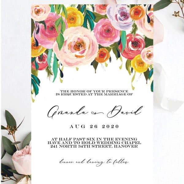 Invitatie de nunta Trandafiri