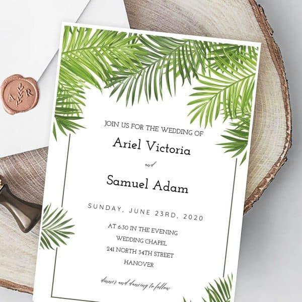 Invitatie de nunta Eucalipt