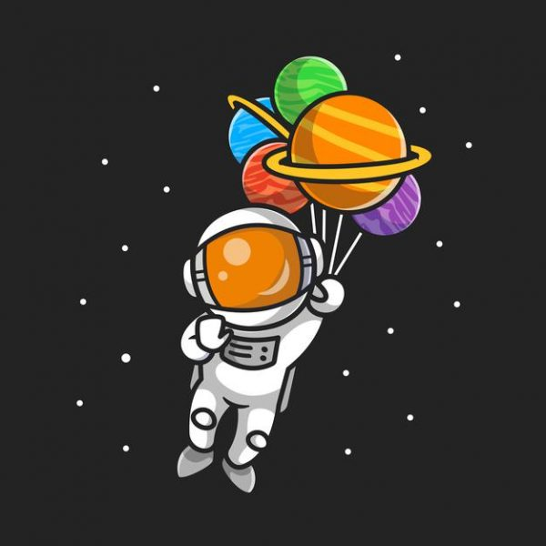 Tablou decorativ astronaut