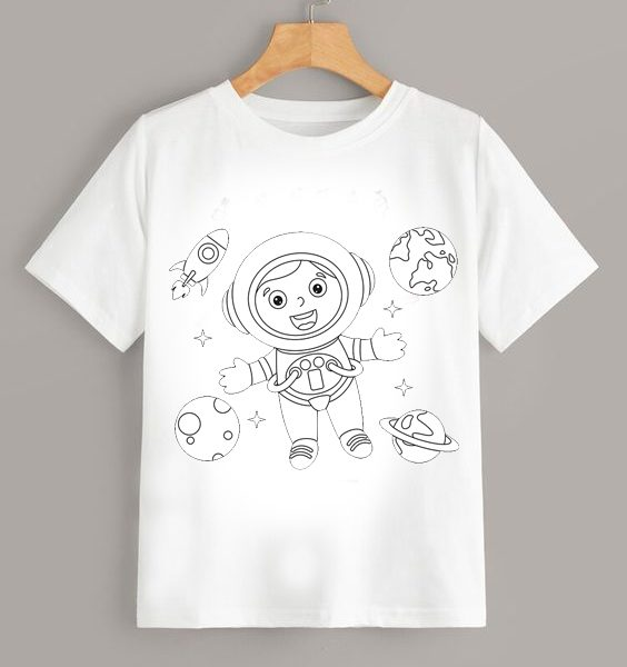 Tricou de colorat Astronaut