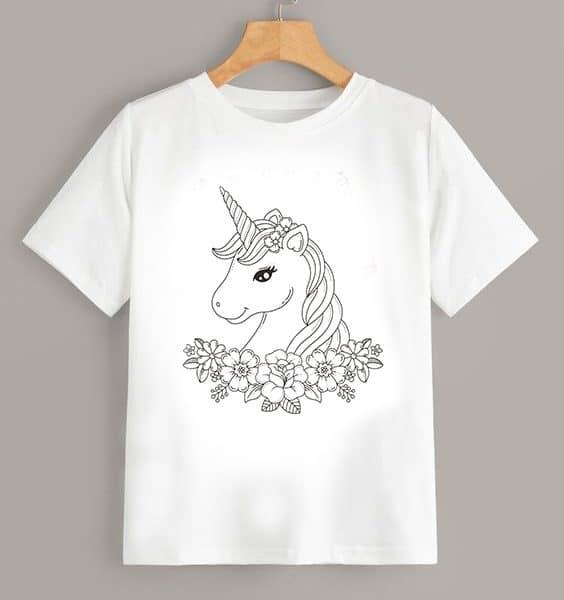 Tricou de colorat Unicorn