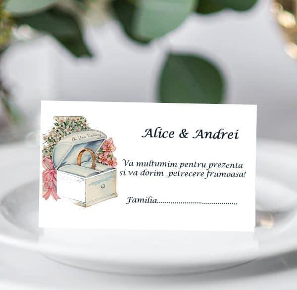 Plic bani de nunta Inel