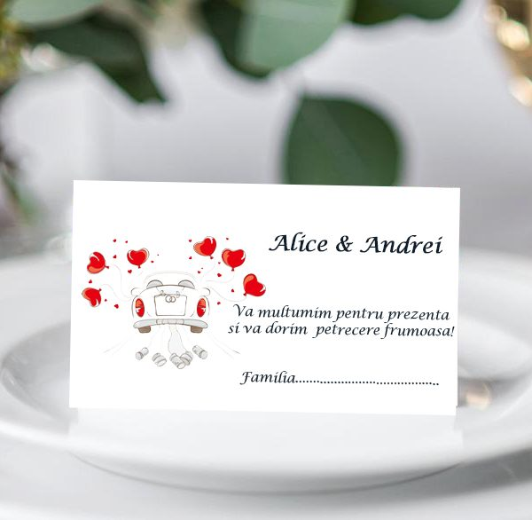 Plic bani de nunta Inimoare