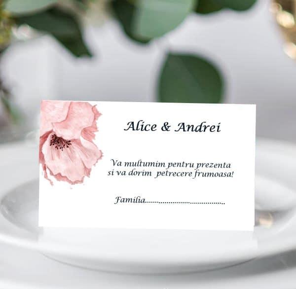 Plic bani de nunta Floare