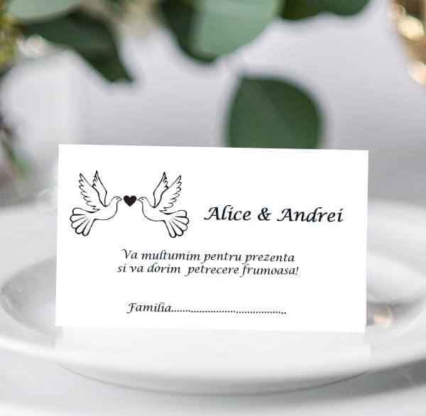 Plic bani de nunta Porumbei