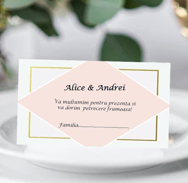 Plic bani de nunta Roz