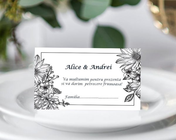 Plic bani de nunta Alba Negru